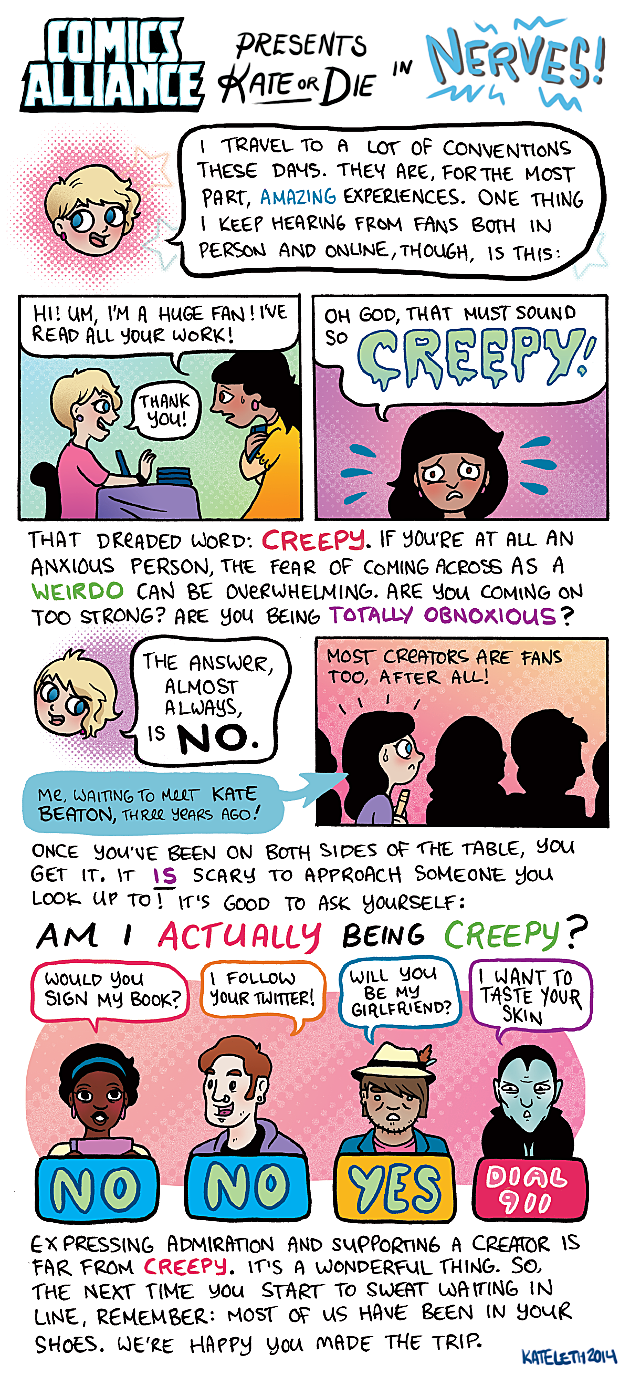 ComicsAlliance Kate or Die in Nerves - Am I Being Creepy?