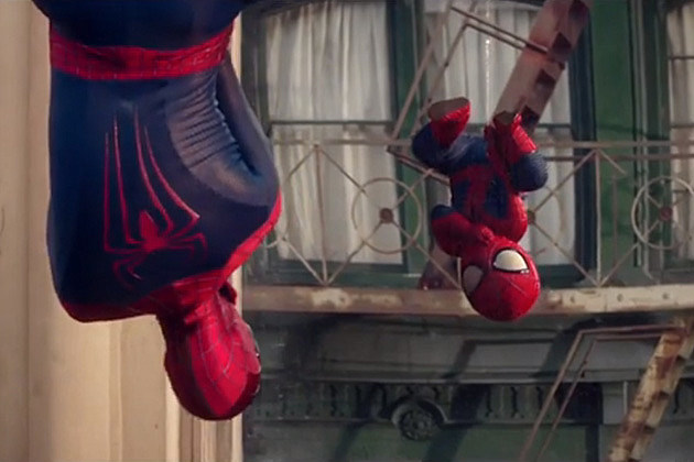 Amazing Spider-Man 2 Evian ad screenshot