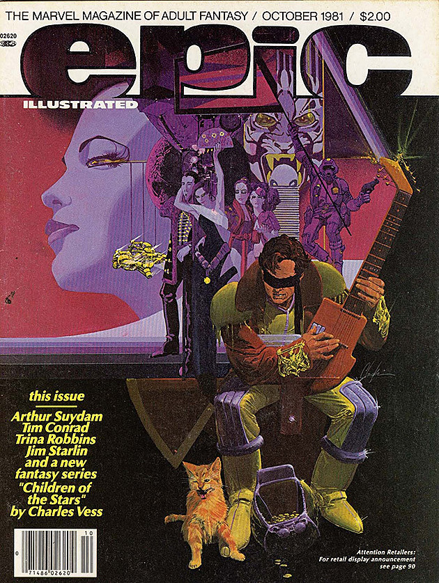 Epic Illustrated #8 cover by Howard Chaykin