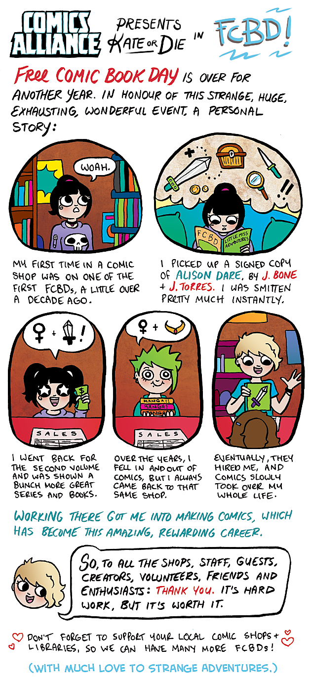 ComicsAlliance Kate Or Die Free Comic Book Day Kate Leth