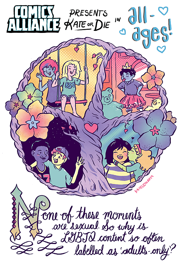 ComicsAlliance Kate or Die All Ages Queer LGBT Comics Animation Kate Leth