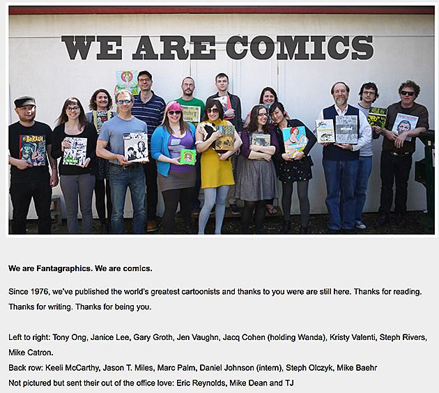 Fantagraphics We Are Comics