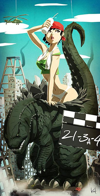 Godzilla by kit-kit-kit