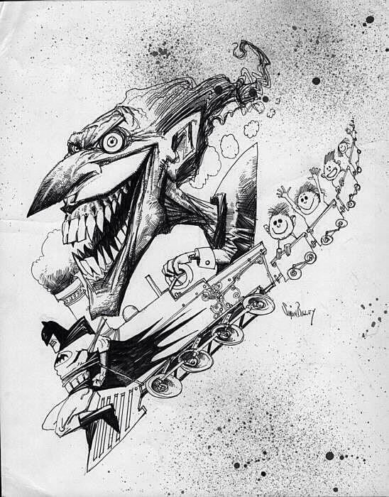 Batman vs. the Joker by Simon Bisley