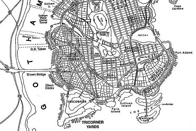 Eliot R. Brown's map of Gotham City