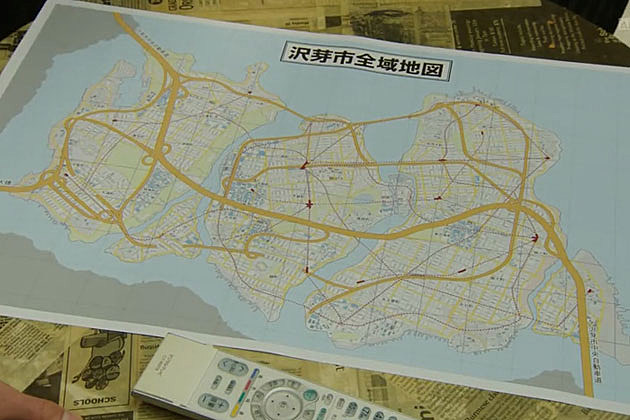 Zawame City map, Kamen Rider Gaim