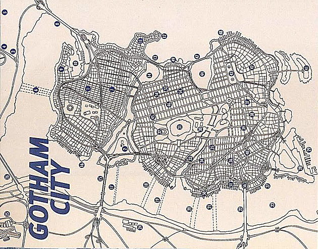 Gotham City map, DC Comics