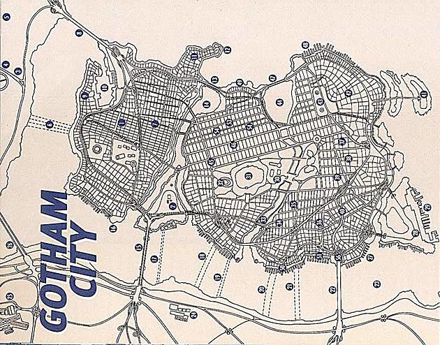 Gotham City Map Gotham City Map dc Comics