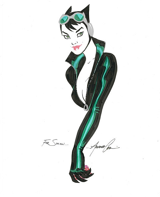 Catwoman by Amanda Conner from the collection of Simon Hausner
