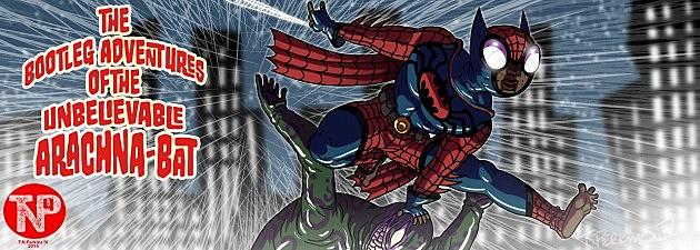 Bootleg Batman/Spider-Man mashup by Thomas Perkins