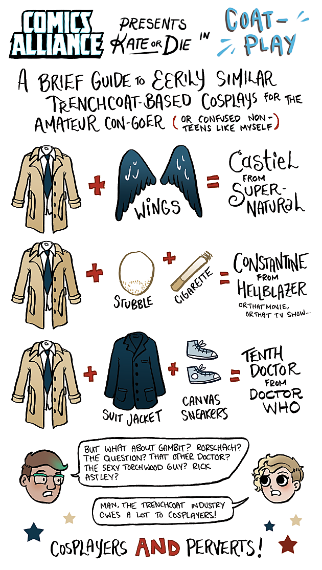 ComicsAlliance Kate Or Die Trenchcoat Cosplay Kate Leth
