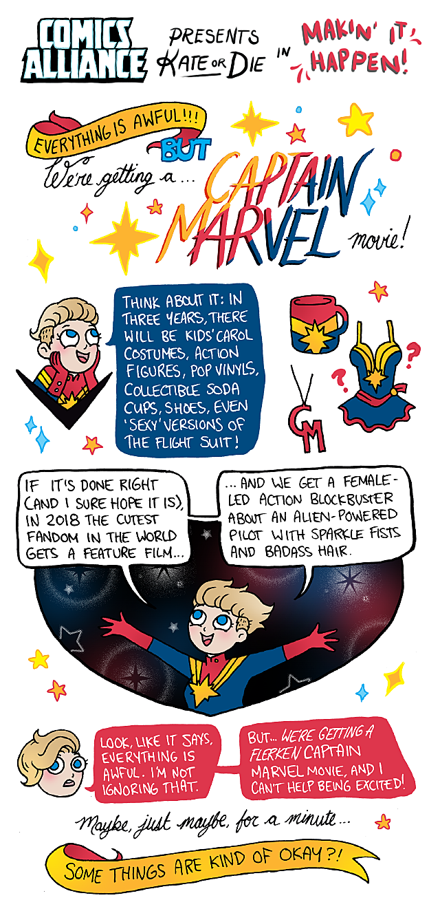 Comics Alliance Kate Or Die Captain Marvel Movie Kate Leth