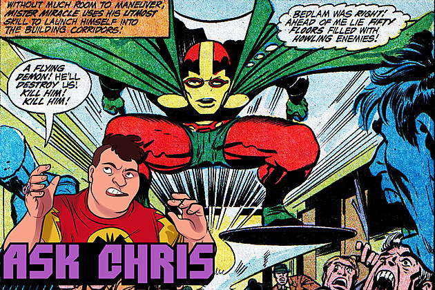 Ask Chris #274, background art by Jack Kirby