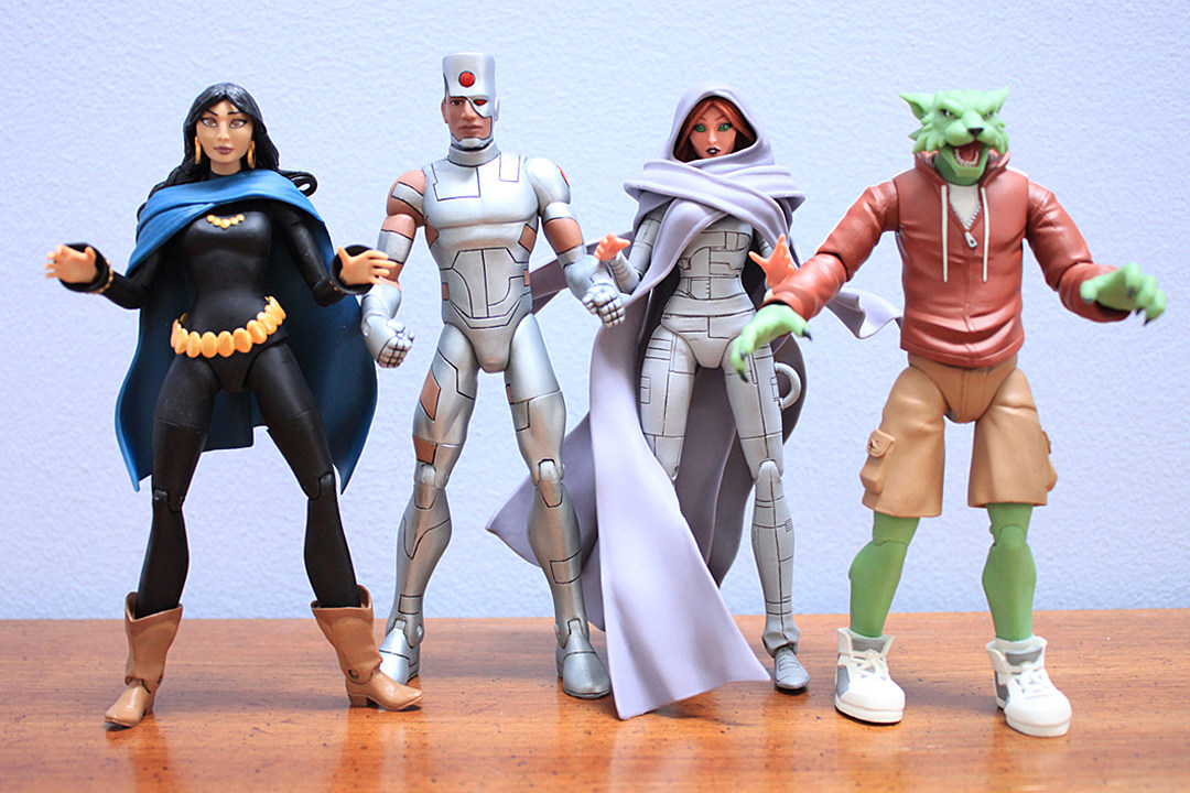 Teen Titan Character Toys : Terry dodson teen titans earth one collectibles review