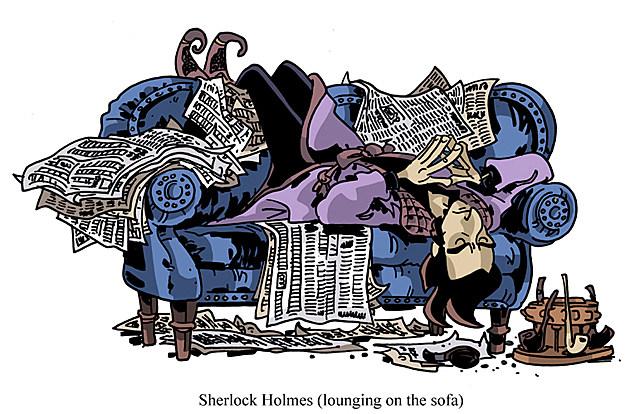 Sherlock Holmes papercraft by Chris Schweizer