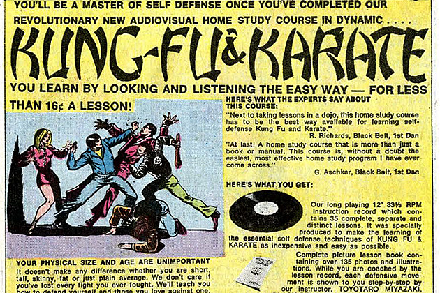 Martial Arts Instruction Ad, circa 1972