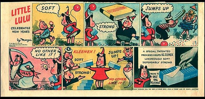 One of Buell's Kleenex advertisements