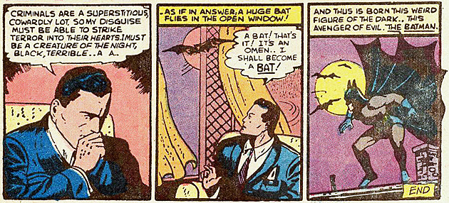 Batman origin by Finger and Kane