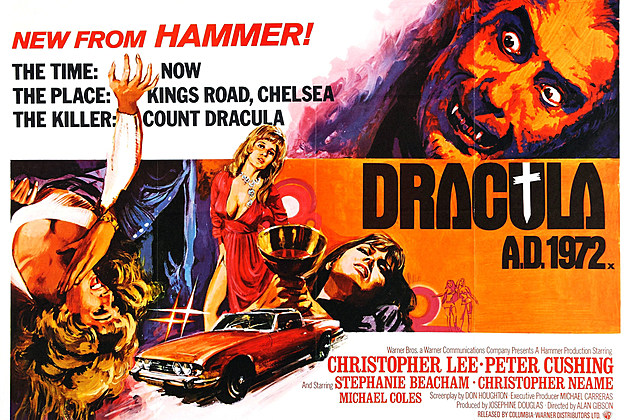 Dracula AD 1972 poster by Hammer Films