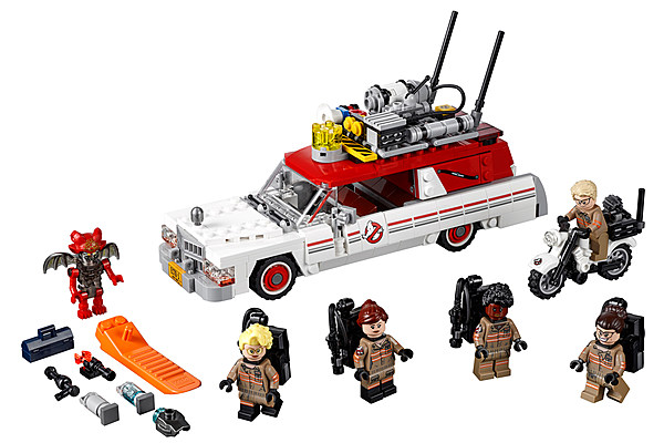 new ghostbusters arrive in style with lego ecto 1 playset. Black Bedroom Furniture Sets. Home Design Ideas