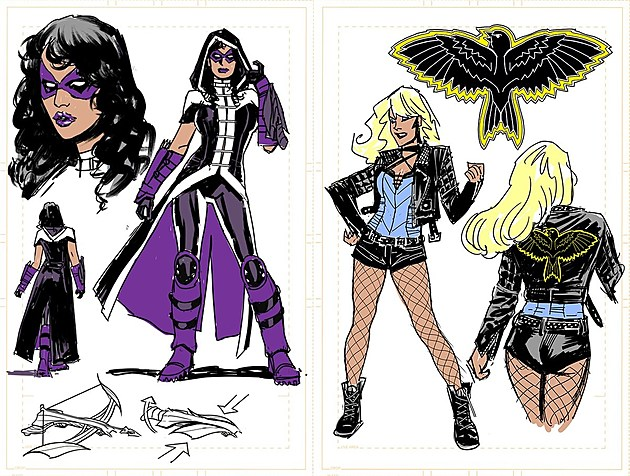Birds of Prey designs by Yanick Paquette