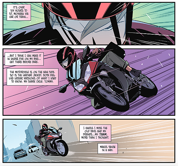 Mighty Morphin Power Rangers: Pink #1 - motorcycle