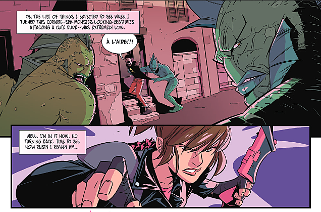 Mighty Morphin Power Rangers: Pink #1 - fight