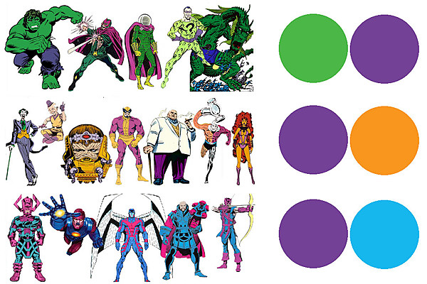 Character Design Colour Theory : Superhero color theory secondary characters