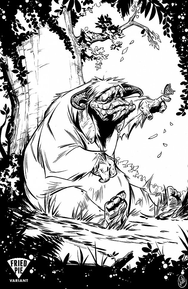 Fried pie reveals joelle jones 39 39 labyrinth 39 coloring cover for Labyrinth coloring pages