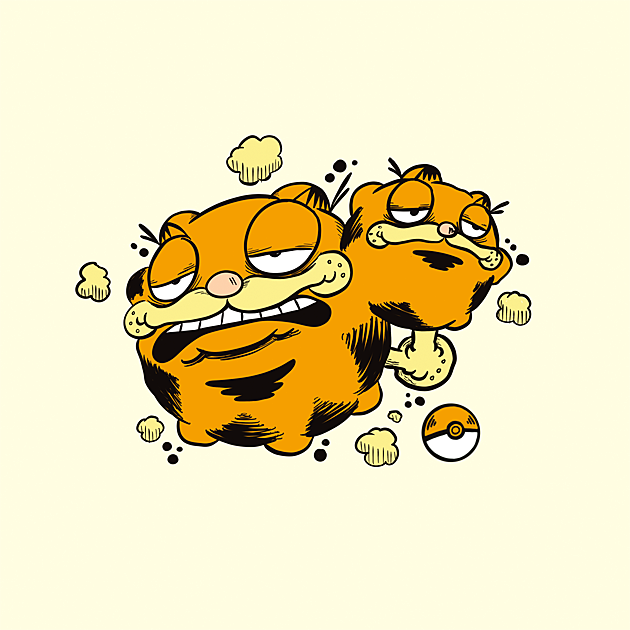 #110 - WEEZFIELD - A bulbous ball of fat that farts noxious gas, this Garfemon WILL eat garbage from your home.