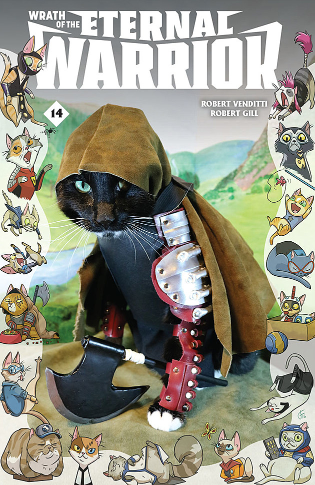 Wrath of the Eternal Warrior #14 Cat Cosplay variant
