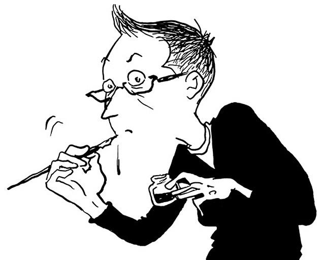 Alison Bechdel. Self-portrait.