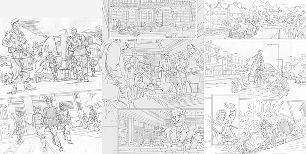 Initial pencils. (Click to enlarge.)