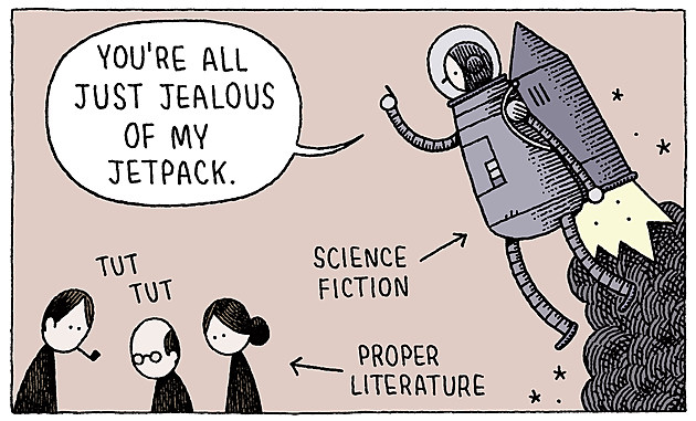 The title comic from You're All Just Jealous Of My Jetpack