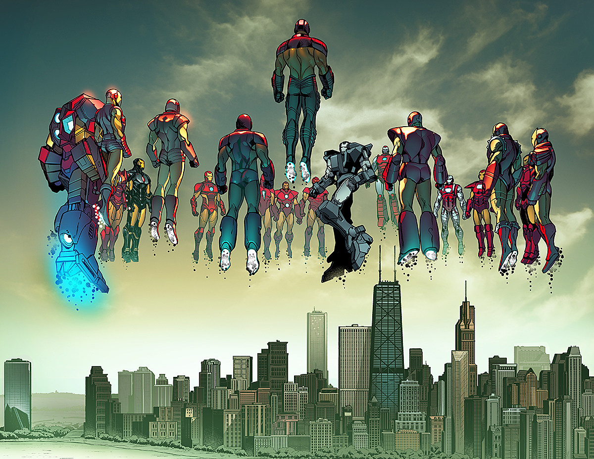 ironheart shares the sky in u0027invincible iron man u0027 2 preview