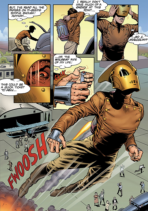 Rocketeer Jetpack Comic The Past Takes ...