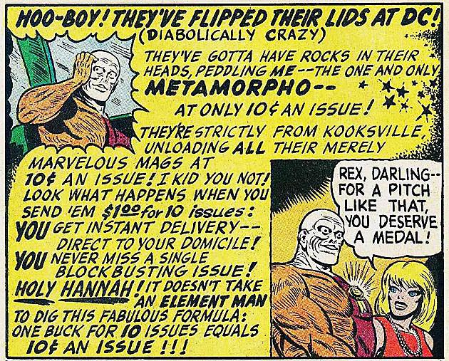 Metamorpho, DC Comics