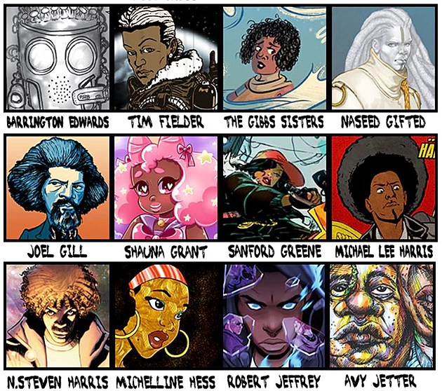 "Some of the announced creators for ""Black Comix Returns"""