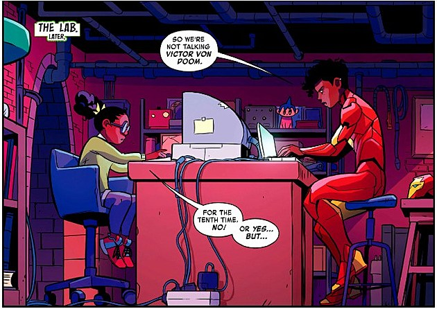 Moon Girl and Devil Dinosaur #15 - Art by Natacha Bustos, Colors by Tamra Bonvillain - Marvel Comics (2017)