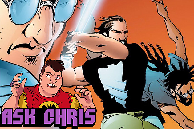 Ask Chris #332, background art by Matt Wagner