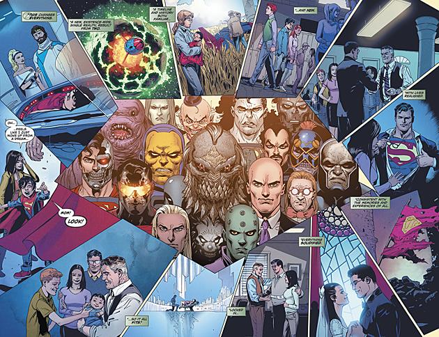 Doug Mahnke, Jaime Mendoza, Christian Alamy, Trevor Scott, Wil Quintana and Rob Leigh / DC Comics (Click to enlarge)