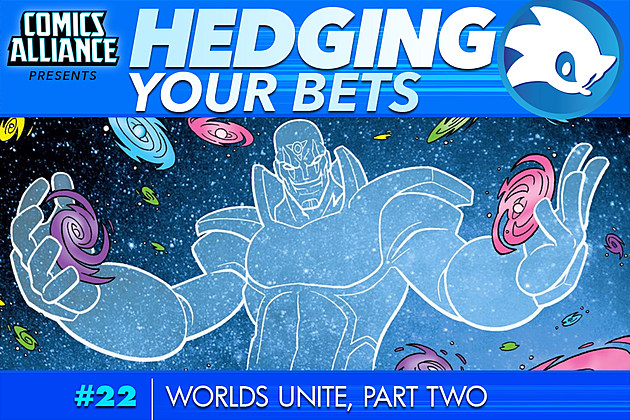 Hedging Your Bets #22, background art by Edwin Huang, Gary Martin, and Gabriel Cassata